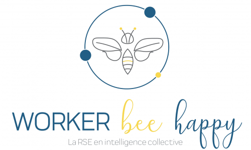 logo worker bee happy